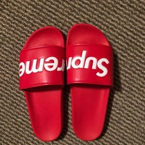 7446ef66f7248a ... Red S S 2014 Size 7 New Rare. M 5c1074c145c8b305c503eada. Other Shoes  you may like. supreme slides. supreme slides.  150  170. Supreme flip flops